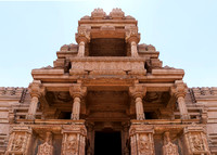 Front upper part of the larger medieval Hindu temple on Gwalior's rock.