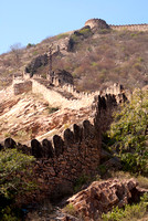 Segment of 'Great wall of Jaipur' outside the Gaitore complex.