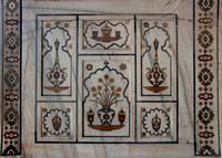 Examples of fine marble lay-in work at Agra's Baby Taj in India.