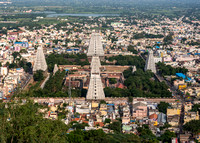 The temple grounds in Thiruvannamalai.