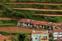 Line of small houses of the working people.