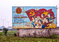 Communist propaganda as welcome in Nam Dinh City.