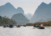 Rowing on the lakes of 'Ha Long Bay on Land'.