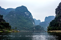 Mountains and lakes in 'Ha Long Bay on Land'.