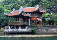 Temple at the shore of the lake.