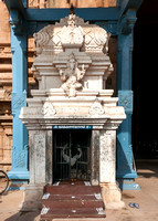 Lord Ganesha shrine at the entrance to the temple.