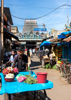All alleys leading to the temple are street markets.