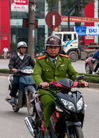 Officer on motorbike.