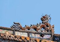 Detail of roof decorations.