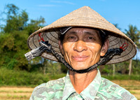 Happy rice farmer.