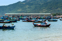 Fishing vessels and the pier.
