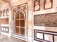 Wall decorations inside the mausoleum.