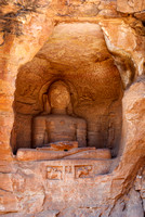 Jain figure carved in a kind of grotto.