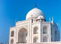 The central part of the Taj Mahal.