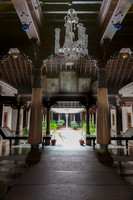 Reception hall at entrance of mansion.