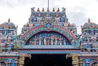Top of the entrance shows the wedding of Shiva with Meenakshi.
