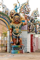 One of the Ayyanar statues at the entrance.