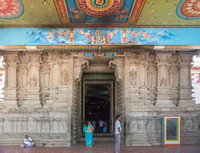 Th entrance of the temple.