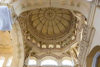 Dome ceilings in many places.