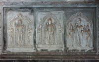 Fresco points to three of the six very important Murugan temples in South India.