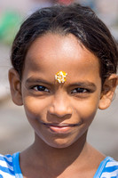 Young girl at Amma Mandapam,