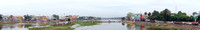 Panoramic view over the river.