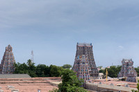 Tallest in the middle is the South Gopuram seen from the North.