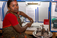 Women cooperative makes spirals and rings for industrial purposes.