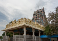 Mandapam in front of East entrance Gopuram.
