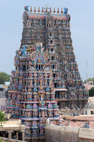 South Gopuram with temple Vimanam in forefront.