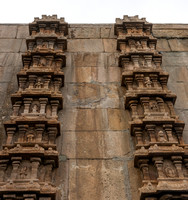 Detail of the wall of the unfinished Gopuram.