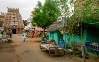 Main street in the village leading to the Shiva temple.