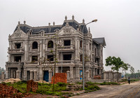 Mansion under construction outside Hanoi.