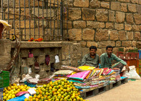 Vendors sell all kinds of stuff along the fort's walls.