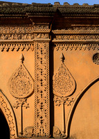 Decorations on the walls of the fort.