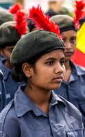 Mellahalli Karnataka Rajyotsava: girl of the National Cadet Corps.