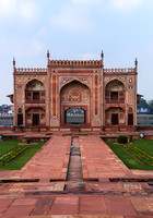 Yumana River gate at Agra's Baby Taj in India.