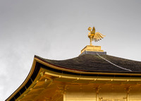 The phoenix on top of the famous Three-story Golden Temple.
