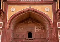 Upper half of gate at Agra Fort in India.