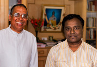 Rev. Martin Kumar (L), principal of school and head priest of church with one of the teachers, also a priest.