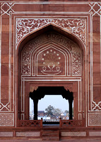 Detail of Yumana River gate at Agra's Baby Taj in India.