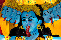 Detail of Kali goddess, the consort of Lord Shiva.