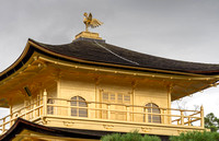 Upper structure of the famous Three-story Golden Temple.