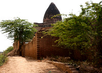 Dome of temple ruin in a side street.
