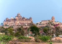 Close up of the fort palace near Jhansi.
