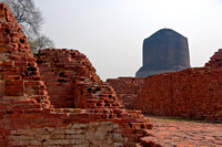 THE stupa appears over the ruins.