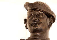 Head of Nana Sahib as pictured in the statue.