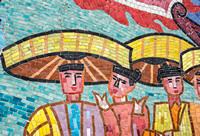 Detail of mosaic wall in Hanoi.