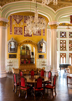 Partial view of Durbar Hall in Bangalore Palace.
