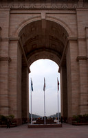 Looking through India Gate.